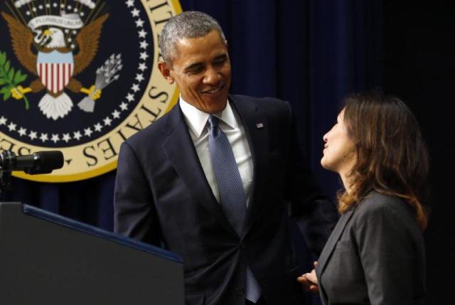 Julie Chavez Rodriguez introduces President Obama.