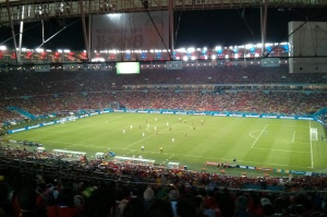 Inside Maracanã Stadium.