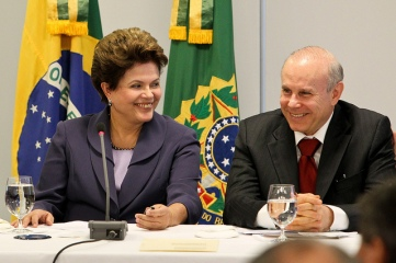 Dilma Rousseff and then-Finance Minister Guido Mantega.
