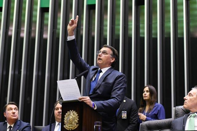 f5fd7214196 President Jair Bolsonaro during a plenary session. (Photo by Edilson  Rodrigues/Agência Senado).
