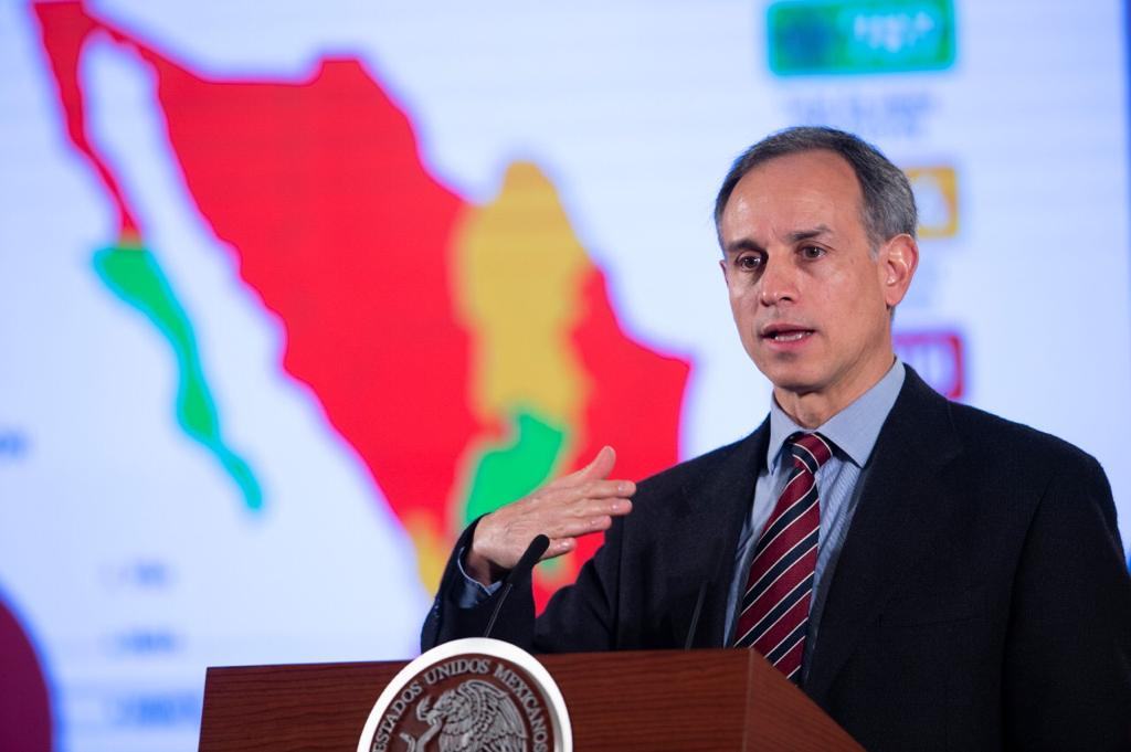 Dr. Hugo López-Gatell Ramírez, Mexico's Subsecretary of Prevention and Promotion of Health, at a presidential press conference on Covid-19, March 19, 2020. (Photo from