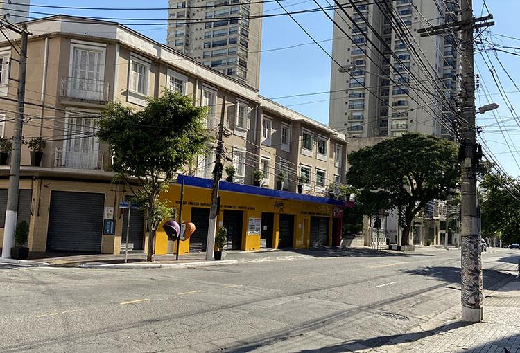 Empty streets in São Paulo, Brazil. (Photo by Elize Massard da Fonseca.)