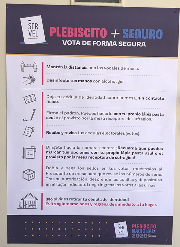 Rules for voting safely during the Covid-19 pandemic.