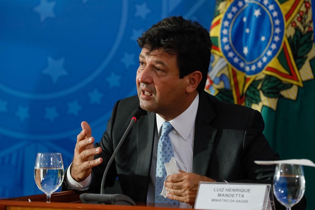 Luiz Henrique Mandetta, then Brazil's Minister of Health, March 2020. (Photo by Isac Nóbrega/PR.)